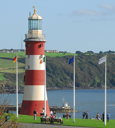 The historic sea front of Plymouth Hoe